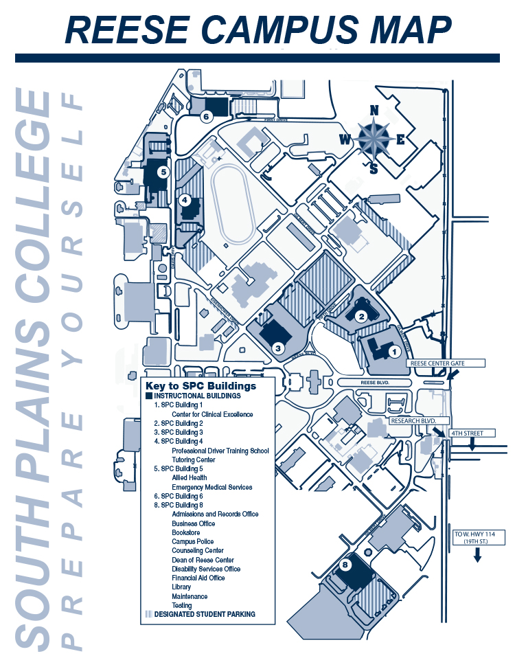 South Plains College Campus Map.Spc Reese Center Map South Plains College Acalog Acms
