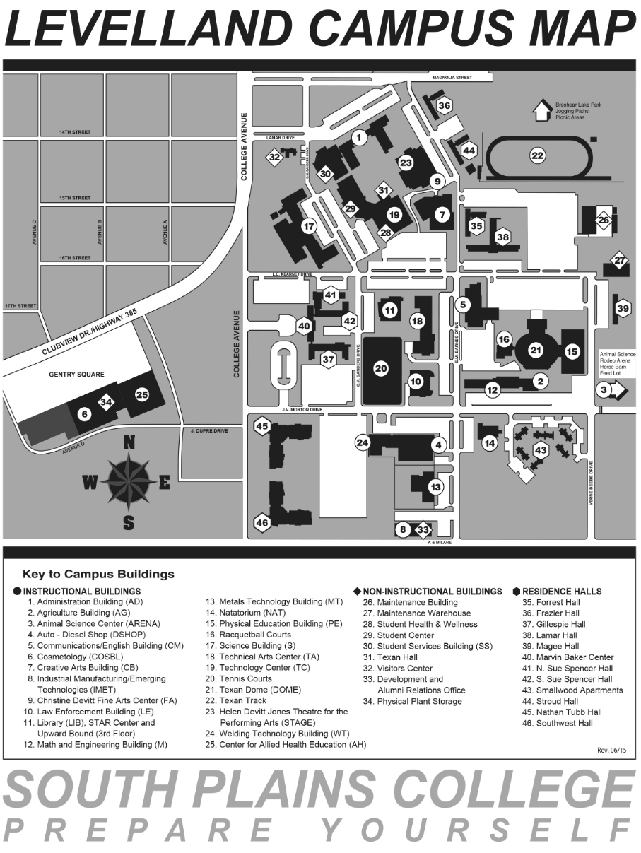 South Plains College Campus Map.About The College South Plains College Acalog Acms